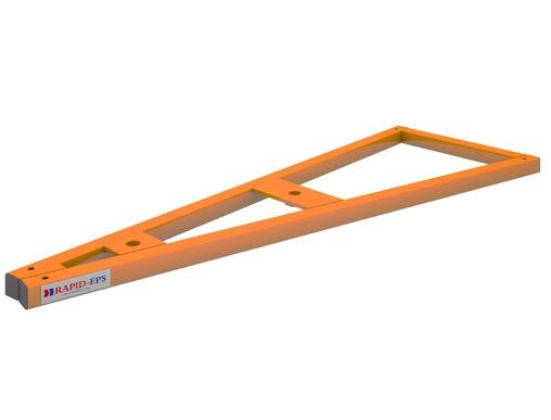 STEEL FRAME POST INSTALLATION HIGH VISIBILITY FOOTPLATE