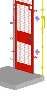 WITH THE SCAFFOLD CLAMPS OPEN, POSITION THE GATE ONTO THE POST.
