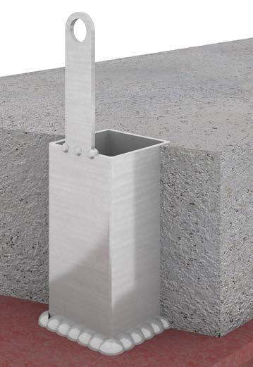 STEEL FRAME POST INSTALL SACRIFICIAL STUB INSTALLATION GUIDE PLACE POST INTO