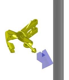 PLACE CLAMP AROUND POST. CLOSE CLAMP.