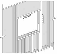 "Ensure that the rough opening is plumb, level and square, and the walls in the opening are not twisted. a) 1 1/2"" (38 mm) solid blocking is required at the sill and sides of the opening."