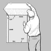 WRB should be applied per manufacturers instructions Cut out Weather Resistant Barrier with a complete box cut of the opening.