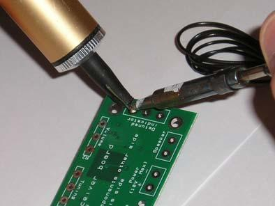Remove the solder, then the soldering iron. 8. Leave the joint to cool for a few seconds. 9.