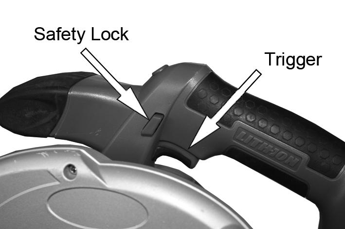 SWITCHING ON/OFF The on/off trigger is fitted with a safety button which prevents the circular saw from starting accidentally.