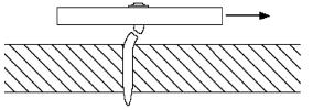 "smooth shank. For typical performance, the fastener point should completely penetrate the steel. Normally, a minimum of /4"" is allowed for the point length."