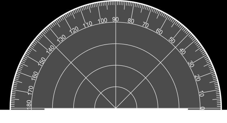 Mike used a protractor to measure ABC as shown below and said the