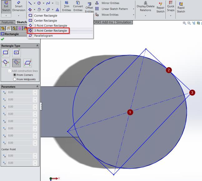 To sketch the shape on the right, simply start with a circle that is identical in shape and size to the original circle.