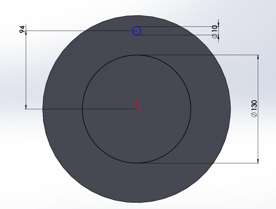 Next, we will use the Circular Sketch Pattern to sketch a series of circles