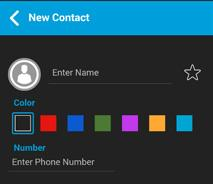 Tip: The Contact Details can also be accessed from the Call screen by tapping the Details button location in the top of the screen.