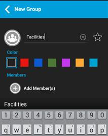 . Talkgroups 44 3. Tap on Add Members. The Select Contacts displays.