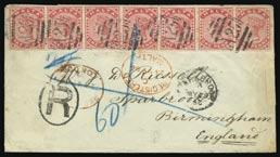 and two used blocks of four, two mint singles, mainly fine. S.G. 21, 22. 300-400 3223 3224 3223 1d.