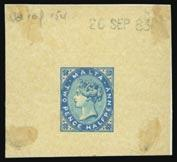 Swiss 10c. and 20c. postage due stamps, a superb item. Ex Disraeli. Photo. 300-400 3226 1d. carmine used on 1895 (Dec. 4th) envelope to H.M.S. Edgar, China, tied by MALTA/A25 with large circular RECEIVED/IN/FORWARD/BAG, fine and unusual.