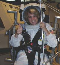Nancy adds, I participated in two simulated Space Shuttle Missions. My first job was Mission Specialist and my second was Space Station Scientist.