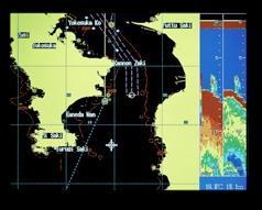 The straightforward menu structure combined with the OMNI-pad and softkeys ensures remarkably simple operation of the radar, GPS plotter and echo sounder.