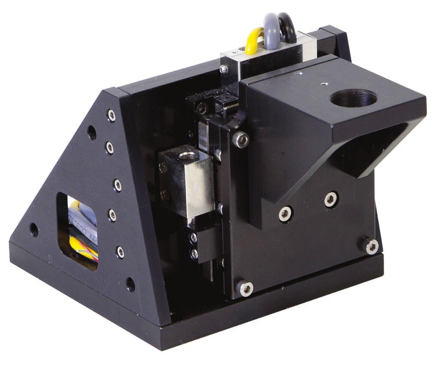 Autofocus Z Stage Options The Z-axis stage, as shown in Figure 4, supports the optical head, including lenses and mounting bracket for focal adjustment.