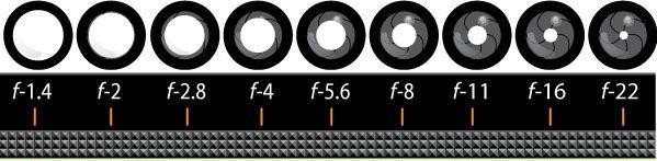 Aperture and F-stop Aperture regulates the size of the opening in the lens. F-stop measures the size of the aperture or opening.