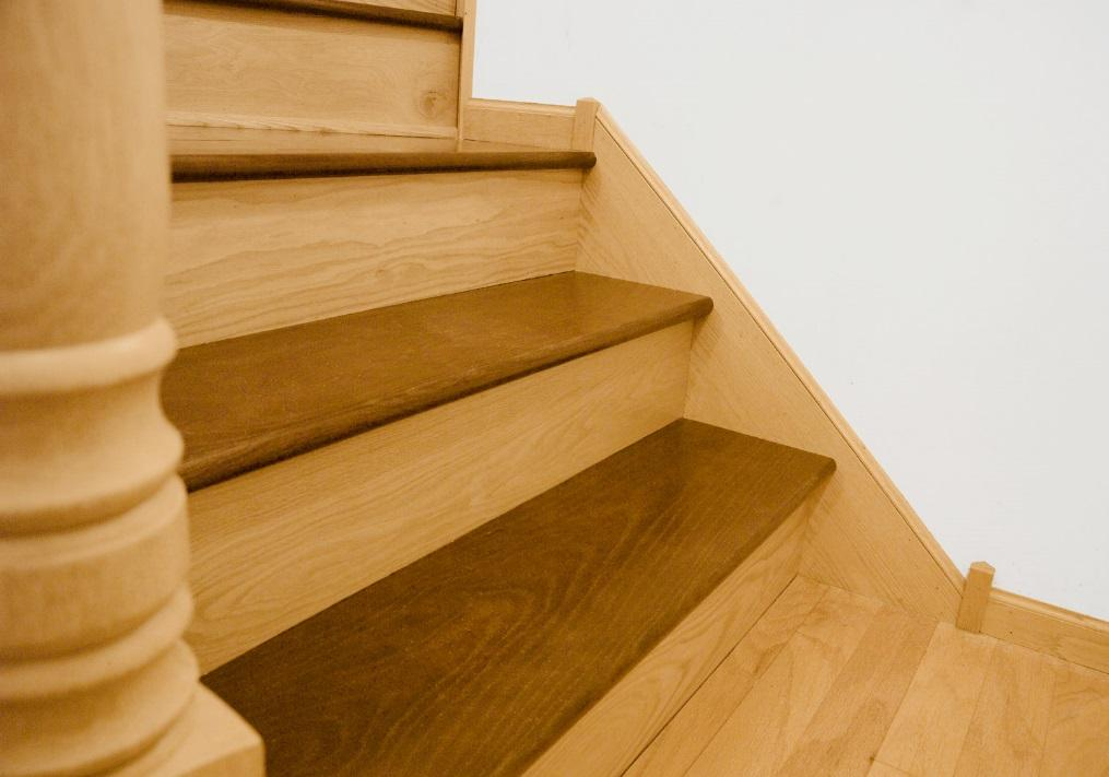 d. The suggested nail pattern for installing the treads and risers on a staircase is shown below. e.
