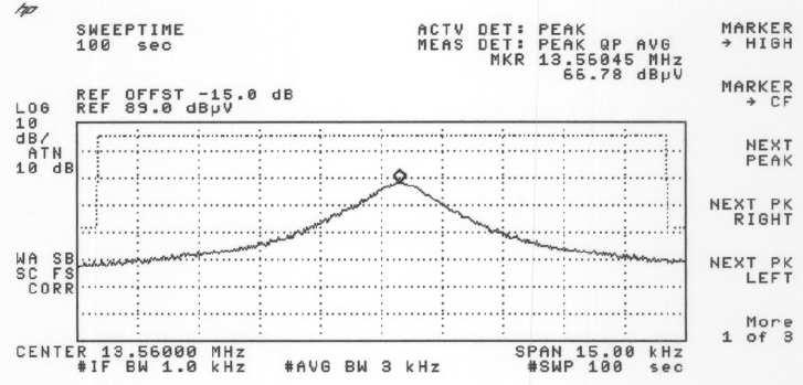 RAPPORT D'ESSAI / TEST REPORT N 200802-4315CR-A1-R2-E Page : 12 / 35 5.5. Frequency band 13.553-13.