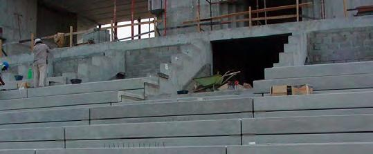 precast seating units and staircase