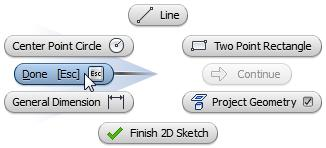 ribbon. Sketch Tab Format Panel Centerline 3: Sketch basic shape Start the Line tool.