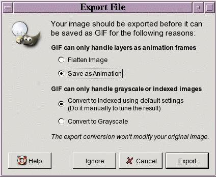 Animation GIMP (GNU Image Manipulation Program) MANUAL Animated GIFs are one of the more ubiquitous graphics formats on the web today. Gimp makes making animated GIFs quite easy.