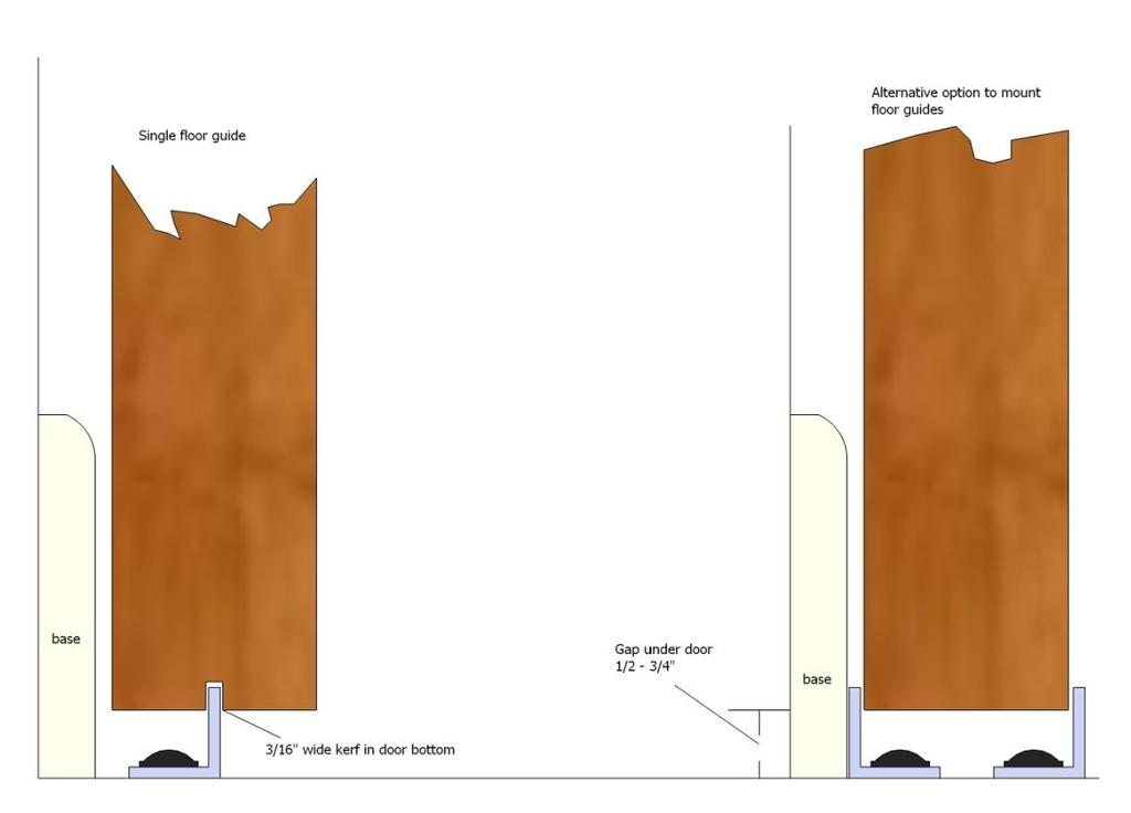 Page 6 of 9 Installation Steps 1. Decide how you want the floor guide to be installed.