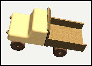 TOY TRUCK Prepared by: Harry Hawkins The following project is of a small, wooden toy truck.