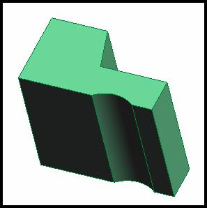 The image has been rotated for a better 3D look. Figure 29. Completed Cab Profile Extrusion. 32.