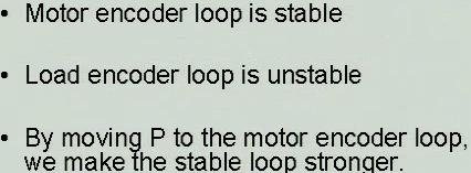 wins strong good loop weak bad loop Frequency Response load loop motor loop ω1 ω1