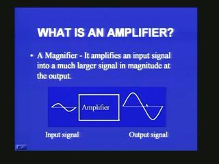 [Refer Slide Time: 34:46] This is what we mean by an amplifier.