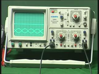 This oscilloscope which I can use to find the output signal and the input signal simultaneously this is the function generator which I am