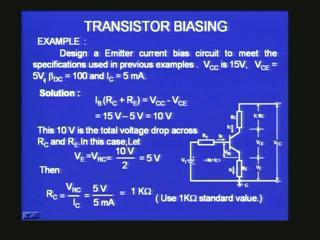 [Refer Slide Time: 17:45] We want the voltage here to be 5V.