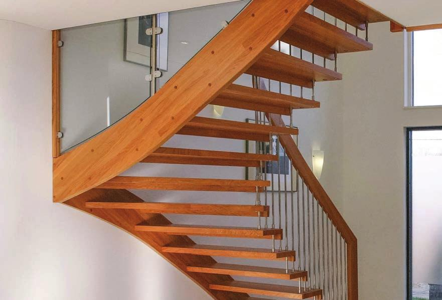 2 3 4 The WF Staircase is a cantilevered style, floating timber staircase.