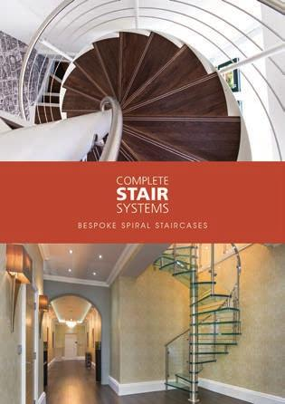 Request your copy of our Bespoke Spiral Staircase Brochure T : 01794 522444 E : INFO@COMPLETESTAIRSYSTEMS.CO.UK WWW.COMPLETESTAIRSYSTEMS.CO.UK WWW.TIMBERSTAIRSYSTEMS.