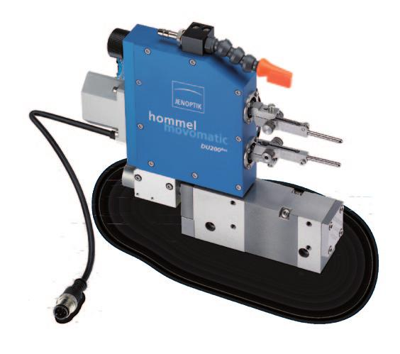 a knob, no tools required - Option of two or more gauge heads in parallel - Standard gauging range : from Ø 4 mm to Ø 80 mm - Gauging range without readjustment : ± 500 µm on workpiece diameter - 6s