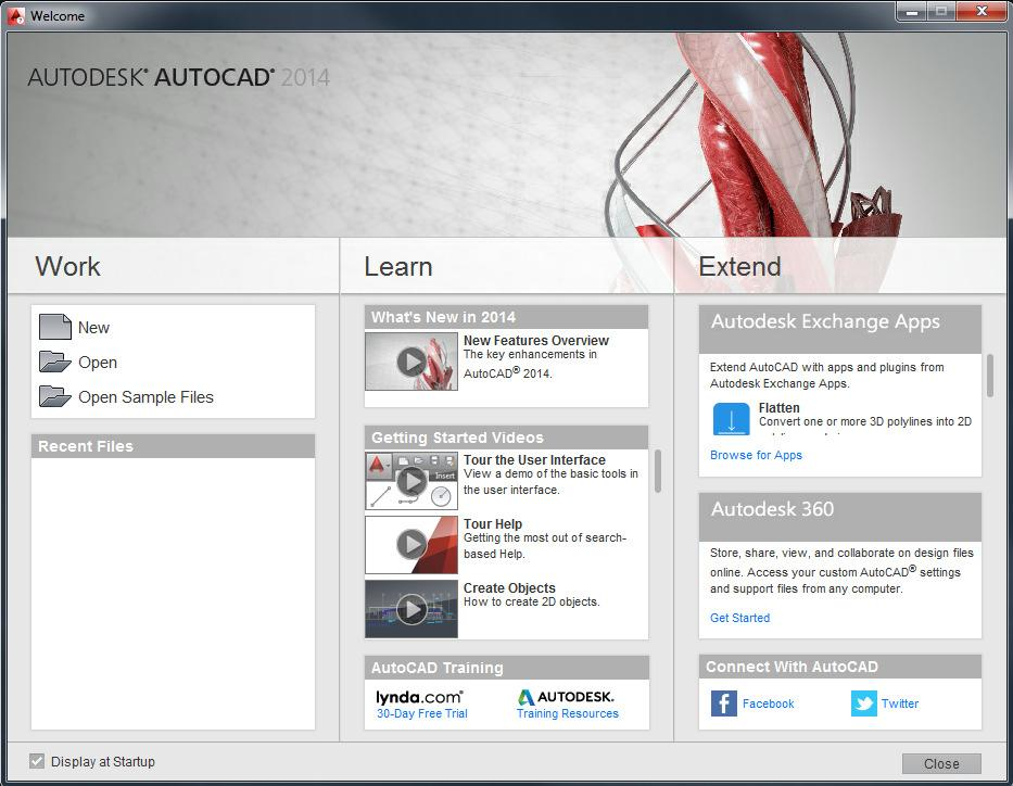 Opening AutoCAD AutoCAD can be started from Start (or the Windows button) ->(All) Programs -> Autodesk - >AutoCAD 20xx -> AutoCAD 20xx English. On campus computers there should be a desktop shortcut.