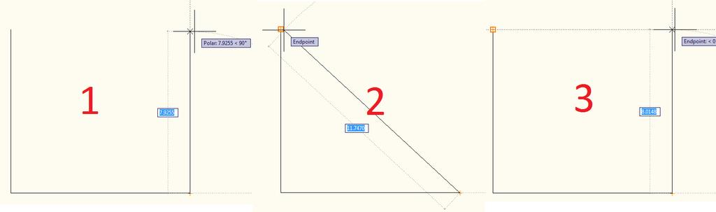 To set the third line it would be convenient to just snap to the top of the first line drawn (Sketch 1 in Figure 10).