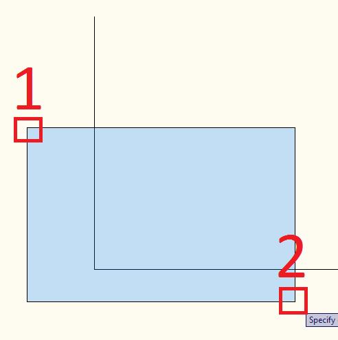 Figure 12 - Selecting (Left to Right) Figure 13 - Selecting (Right to Left) Once the object(s) to delete are selected, hit the