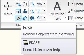 Figure 14 - Erasing Once the eraser has been selected, you can select items in the drawing by left-clicking on them or by using the click-then-drag method mentioned earlier (the left-right feature