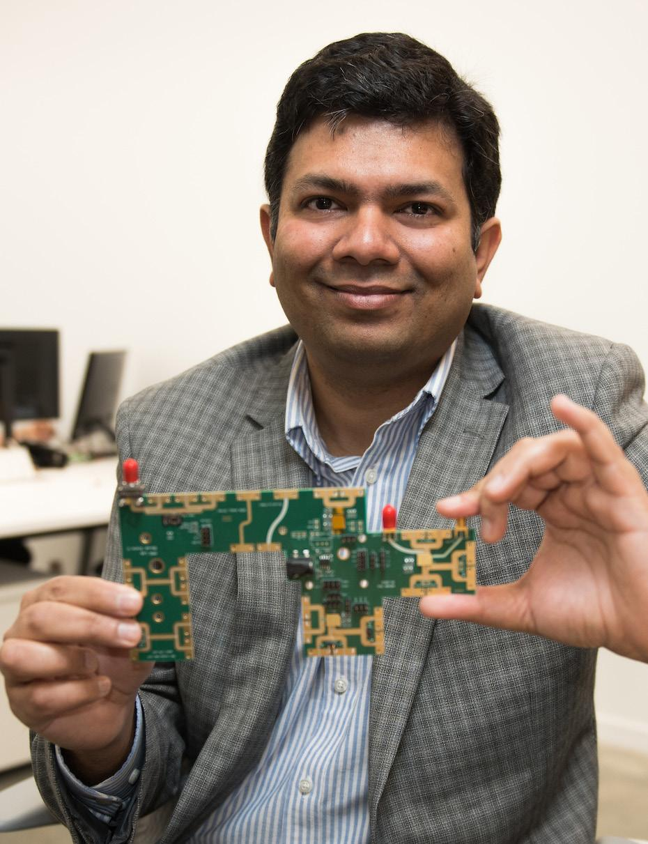 Professor Saxena focuses on energy efficiency in computing and communication for next-generation microchips.