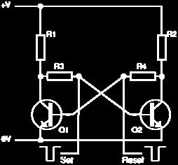 Thus, the circuit remains stable in a single state continuously. Similarly, Q2 remains on continuously, if it happens to get switched on first.