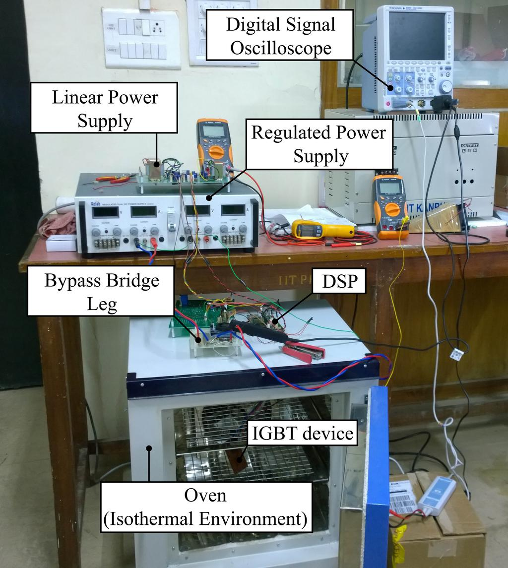 Online Condition Monitoring Of Insulated Gate Bipolar Transistor Igbt Motor Drive Circuit Diagram High Wiring And 36 Experimental Results Analysis Figure 53 Setup For Characterisation 5