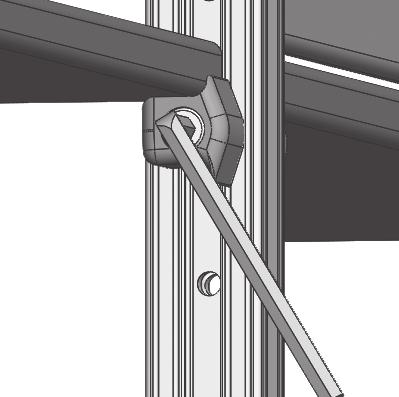 diagram below).. Place shelves on pegs. C. Install shelf stops in front or back of shelf as desired. D.