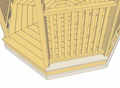 Expert Advise - Position all Perimeter Deck Boards around gazebo as