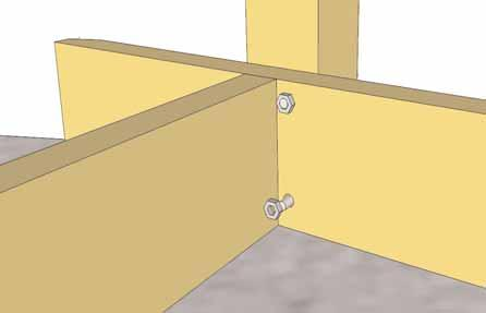 13. When holes are aligned, slide 4 - Carriage Bolts from the outside through Post and T Post Mount