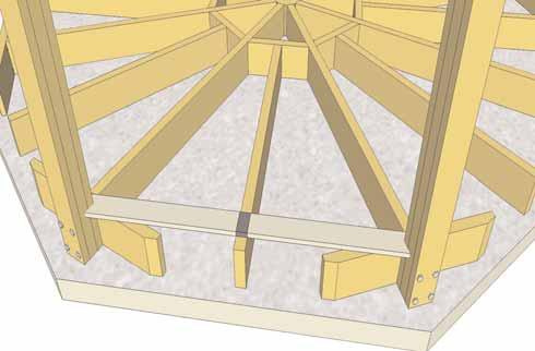 Align and secure Post to Joist Assembly as per Steps 12-15.