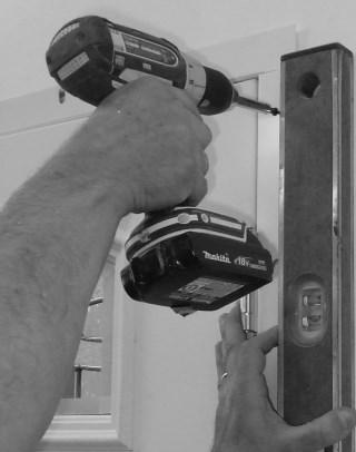 See Step 9 & 10 - Before caulking it may be easier to hold pre -hung