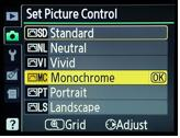 Bottom line, set your WB correctly to the lighting conditions you are shooting under. Picture Settings: These are in camera settings that can be set to apply to still images.