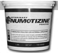 Applied as a poultice, Numotizine helps retain the body s own warmth in the area under treatment. The Cataplasm medicated with guaiacol, beechwood creosote and methyl salicylate for comforting warmth.
