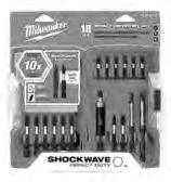 48-32-4403 1/4 Impact Driver Set, 18pc Selection includes 1 & 2 lengths of Insert, Power, Square Bits; Magnetic Bit Holder.